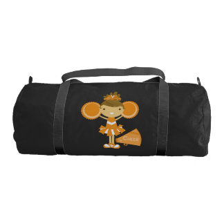 Orange Cheerleader Duffle Bag Gym Duffel Bag