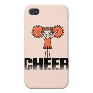 Orange Cheerleading and Gifts iPhone 4/4S Case