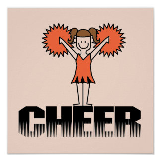 Orange Cheerleading T-shirts and Gifts Poster