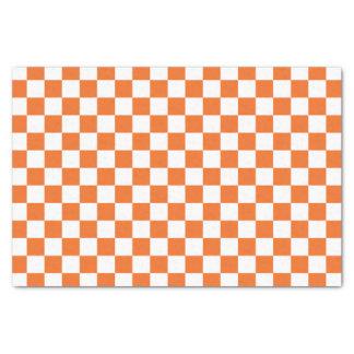 Orange Chequerboard Tissue Paper
