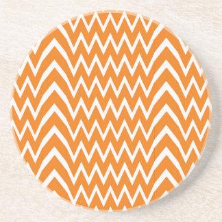 Orange Chevron Illusion Coaster