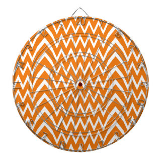 Orange Chevron Illusion Dartboard
