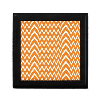 Orange Chevron Illusion Gift Box