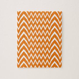 Orange Chevron Illusion Jigsaw Puzzle