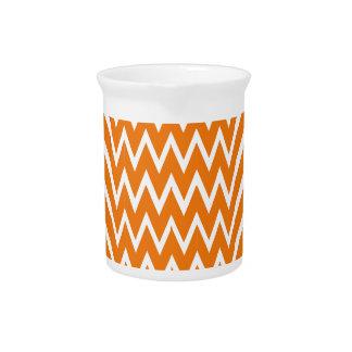 Orange Chevron Illusion Pitcher