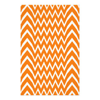 Orange Chevron Illusion Stationery