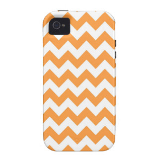 Orange Chevron Pattern Case For The iPhone 4