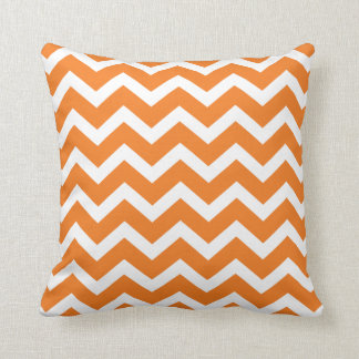 Orange Chevron Stripe Pillow