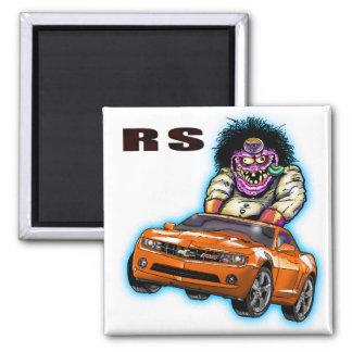 Orange Chevy Camaro RS Magnet