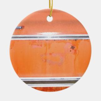 Orange Chevy Truck Door Ceramic Ornament