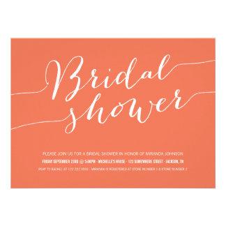 Orange Chic Bridal Shower Invitations
