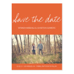 Orange Chic Photo Save The Date Post Cards