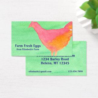 Orange Chicken Fresh Eggs Business Card
