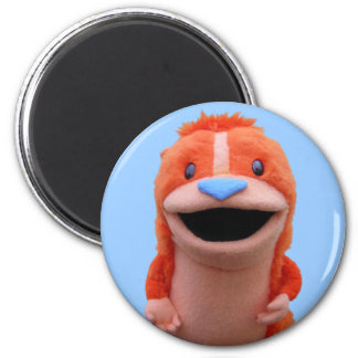Orange Chipmunk Magnet