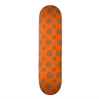 Orange chocolate chip cookies pattern skate board decks