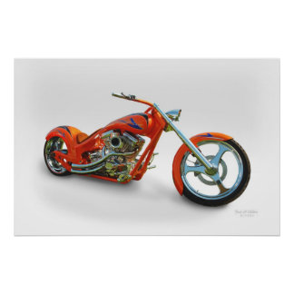 orange chopper poster