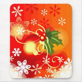 Orange Christmas Mousepads