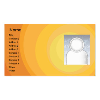 Orange Circle Shades - Business Pack Of Standard Business Cards