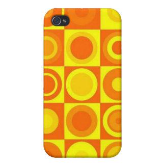 Orange circles cases for iPhone 4
