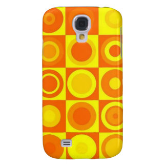 Orange circles samsung galaxy s4 covers
