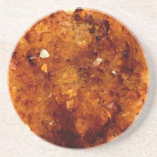 Orange Citrine Crystals Coaster