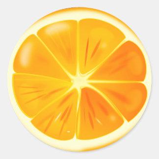 Orange Citrus Slice Sticker Pack