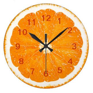 Orange citrus wall clock* large clock
