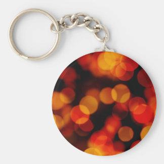 Orange City Lights Reflections Keychain