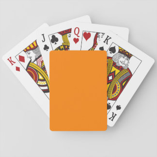 Orange Classic Playing Cards