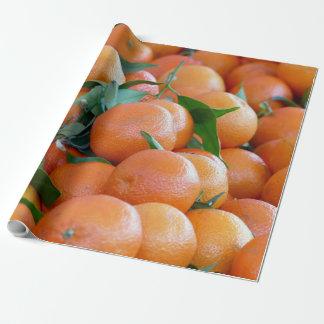 Orange clementines, tangerines wild duck green