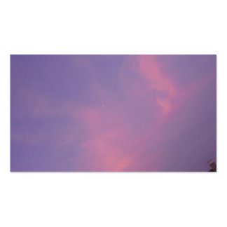 Orange clouds on the blue sky at sunrise business card templates
