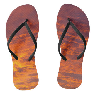 Orange clouds thongs