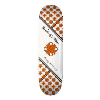 Orange Clover Ribbon Skate Board Decks