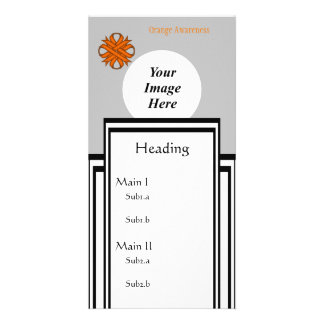 Orange Clover Ribbon Template Personalised Photo Card