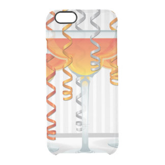 Orange cocktail and ribbon clear iPhone 6/6S case
