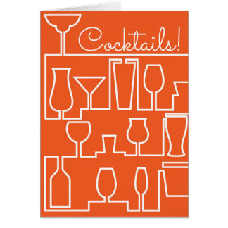 Orange cocktail party card