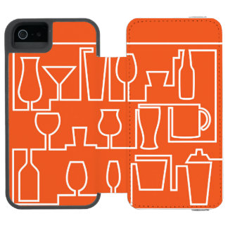 Orange cocktail party incipio watson™ iPhone 5 wallet case