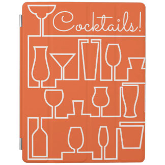 Orange cocktail party iPad cover