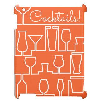 Orange cocktail party iPad covers