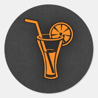 Orange Cocktail Round Sticker