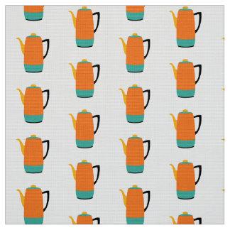 Orange Coffe Percolator Fabric
