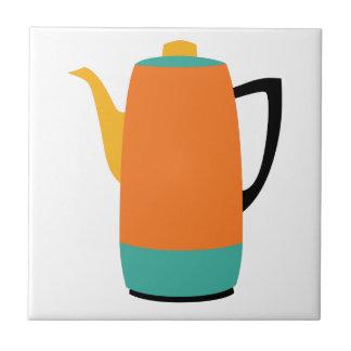 Orange Coffee Percolator Ceramic Tile