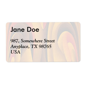 Orange color abstract shipping label