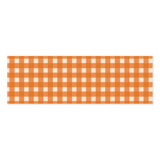 orange color country plaids business card template