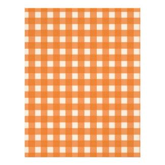 orange color country plaids full color flyer