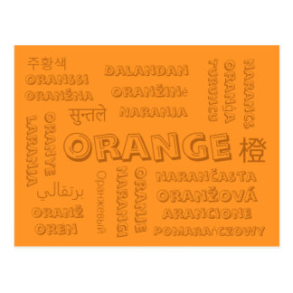 Orange - Color Languages on Postcards