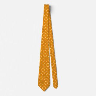 Orange Color Polka Dot Spots Design Pattern Tie