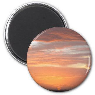 Orange Colored Sky Refrigerator Magnet