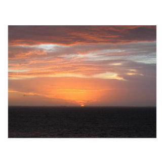 Orange Colored Sky Postcard