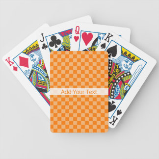 Orange Combination Checkerboard by Shirley Taylor Bicycle Playing Cards